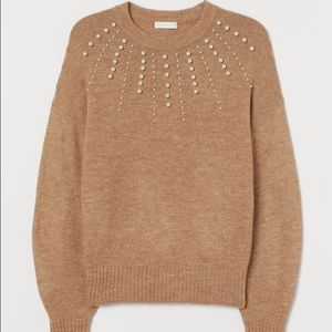 H&M Sweater with Beads in Size XL